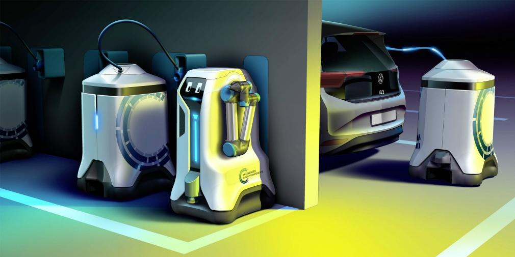 Volkswagen создал робота для подзарядки электрокаров