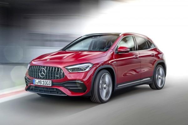 Новый Mercedes-Benz GLA отдалился от обычного А-класса