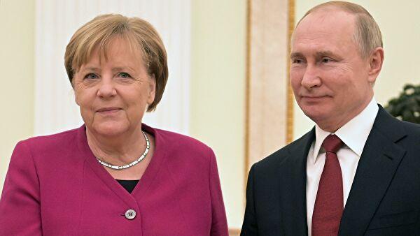 Переговоры Путина и Меркель продолжаются уже три часа