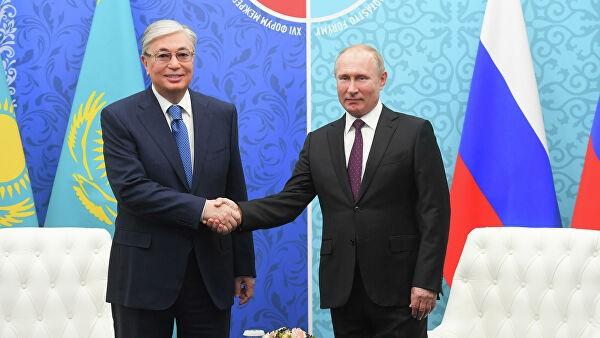 Путин и Токаев подтвердили настрой на продолжение активного диалога