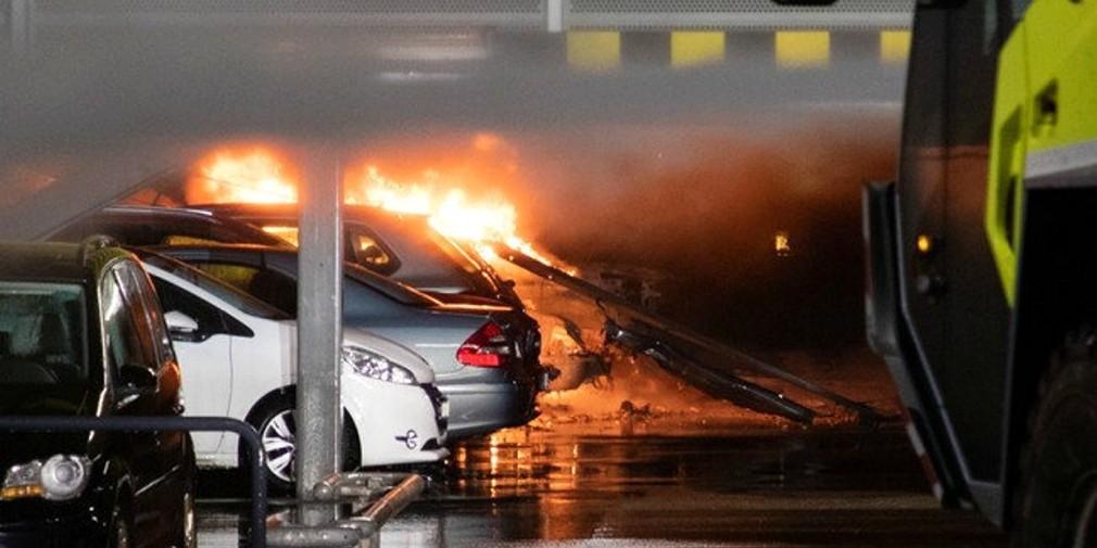 На подземной парковке в Норвегии сгорело более 300 автомобилей