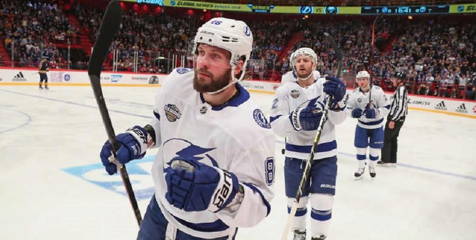 Дубль Кучерова помог «Тампа-Бэй» одержать девятую победу подряд в НХЛ