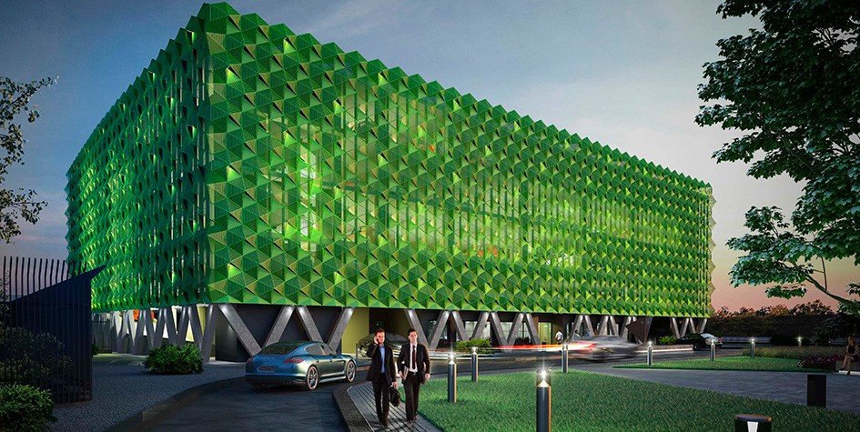 Москва показала проект многоуровневой автостоянки в футуристическом стиле