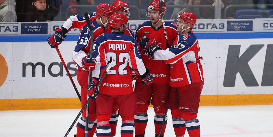 ЦСКА на своей площадке проиграл «Барысу» в матче КХЛ
