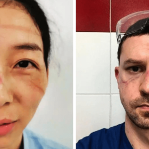 Лица врачей после смен помощи пациентам с коронавирусом