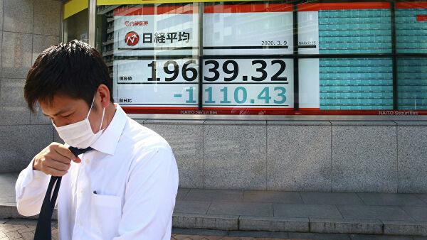 Японская биржа открылась провалом на 8,5%