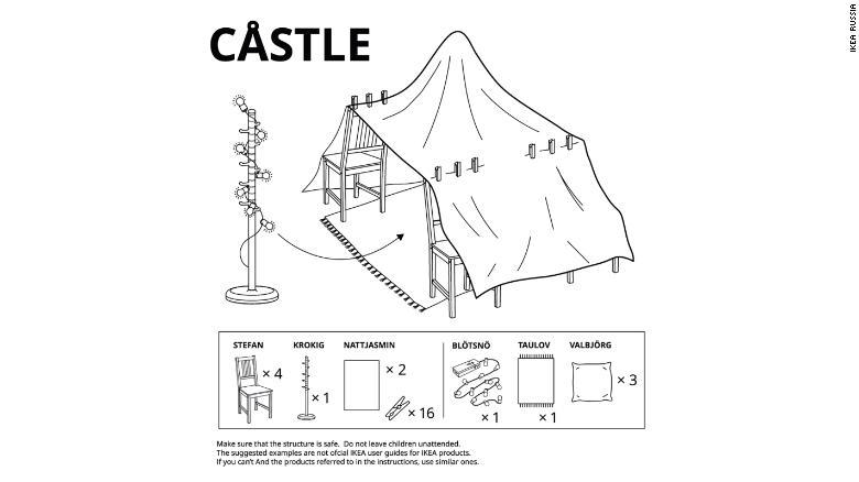 IKEA выпустила новую инструкцию. Теперь про шалаши из одеял