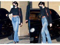 Безупречные джинсы и кроп-топ: Кайя Гербер на свидании с Джейкобом Элорди