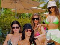 Дресс-код— купальники: Ким Кардашьян поделилась фотографиями с частного острова, на котором она отдыхает с сестрами