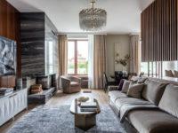 Двухэтажная квартира с дровяным камином в центре Москвы