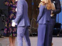 Как близнецы: Кейт Миддлтон и принц Уильям появились на публике в одинаковых костюмах