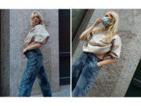 Объемная толстовка + джинсы с монограммой: беременная Эльза Хоск предпочитает комфортные образы
