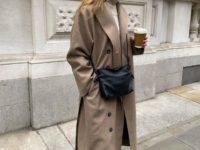 Оттенки бежевого: Роузи Хантингтон-Уайтли нашла безупречное пальто для холодной осени