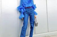 С чем носить блузку H&M цвета электрик: показывает блогер из Норвегии