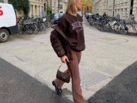 Где искать пуховик шоколадного оттенка, как у инфлюенсера Барбары Кристофферсен?