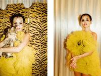 Как цыпленок: Рита Ора в неоново-желтом воздушном платье Giambattista Valli