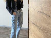 Какие джинсы носить при температуре -2? Как у топ-модели Тани Кизко