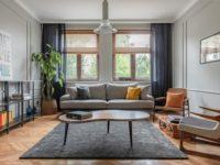 Квартира с винтажной мебелью для домашних вечеринок