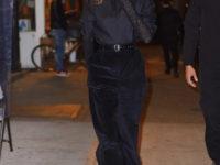Леди в черном: Белла Хадид в кожаном жилете и Кендалл Дженнер в бархатных брюках