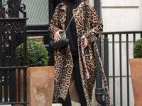 Леопардовое пальто + худи: Рита Ора в Лондоне