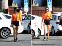 Очень короткие шорты и очень длинные ноги: Алессандра Амбросио на выходе из спортзала