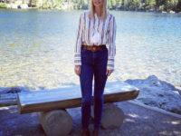 Узкие джинсы + рубашка в полоску: Иванка Трамп в национальном парке Роки-Маунтин