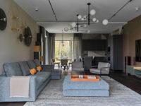 Дом в Подмосковье 250 м² с камином и большими окнами