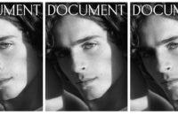Эди Слиман сфотографировал Тимоти Шаламе для обложки Document Journal