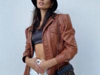 Кожаная рубашка— самое выгодное вложение в базовый гардероб: еще одно модное доказательство от Жизель Оливейры
