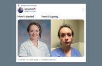 Медсестра из США рассказала и показала, как она изменилась во время пандемии COVID-19