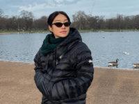 Пегги Гу в платье-пуховике, которое спасет даже в самые сильные морозы