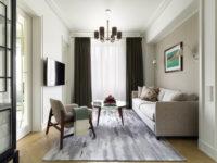 Светлая квартира 58 м² с винтажной мебелью в Москве