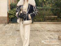 В зимнем сезоне нам всем нужны классические джинсы цвета экрю, как у француженки Жюли Феррери