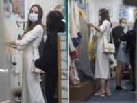 Белое платье + сандалии Fendi: Анджелина Джоли на шопинге в Лос-Анджелесе