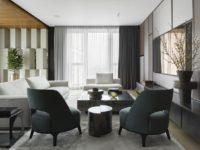 Московская квартира 222 м² в стиле роскошный минимализм