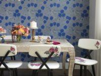 Обои в цветочек в столовой: 25+ вдохновляющих примеров