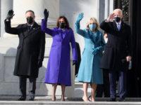 Первый выход первой леди: Джилл Байден в бирюзовом пальто Markarian