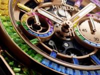 Все цвета радуги на циферблате, корпусе, безеле и ремешке новых драгоценных часов Hublot, которые не захочется снимать