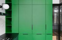 Color Blocking: яркая квартира 63 м² в сталинке