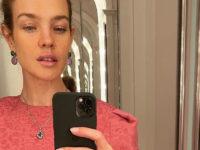 Естественный макияж и платье ягодного цвета: весенний образ Натальи Водяновой