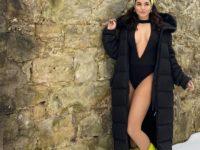 И как ей только не холодно: почти голая Ванесса Хадженс на зимней прогулке