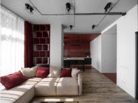 Квартира 52 м² в терракотовых тонах в Киеве