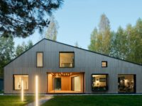 Современная архитектура: деревянный дом 134 м² в Сибири
