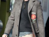 Великолепный Эдди: необычное пальто и многослойность