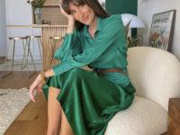 Атласная юбка Zara— правильная инвестиция в весенний гардероб. Француженка Жюли Феррери убедит вас в этом