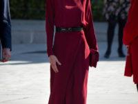 Бархатная роза: королева Летиция в роскошном платье насыщенного винного оттенка