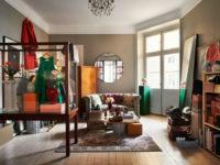 Квартира с винтажной мебелью в Стокгольме