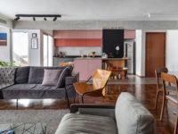 Бетонная квартира с розовыми акцентами в Сан-Паулу