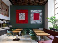 Flaner: новый ресторан в Москве с мебелью Vitra