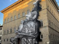 Инсталляция JR на фасаде палаццо во Флоренции